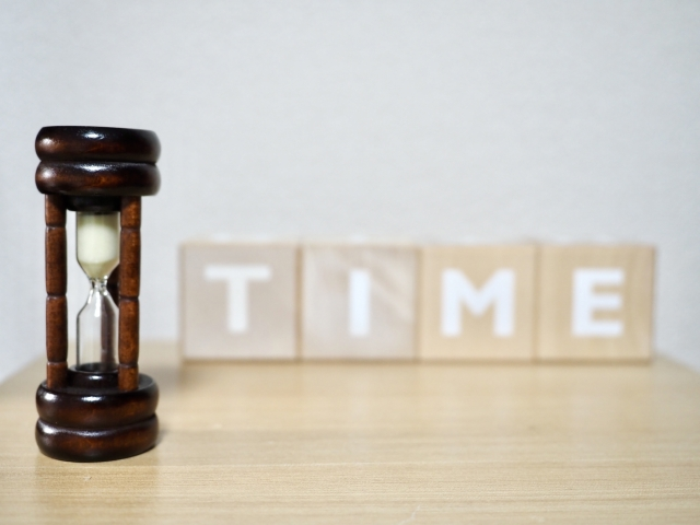 砂時計とタイム